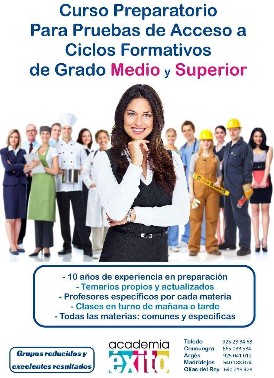 Curso Preparatorio Pruebas Acceso CF Grado Medio y Superior 2020